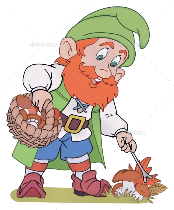 Gnome with Basket - People Characters