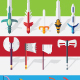 15 Flat Vector Weapons Sprites - GraphicRiver Item for Sale
