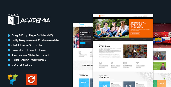 Academia – Responsive Education Theme For WordPress