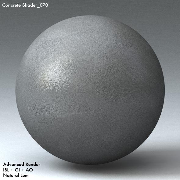Concrete Shader_070 - 3DOcean Item for Sale