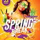Spring Break Flyer | Psd Template