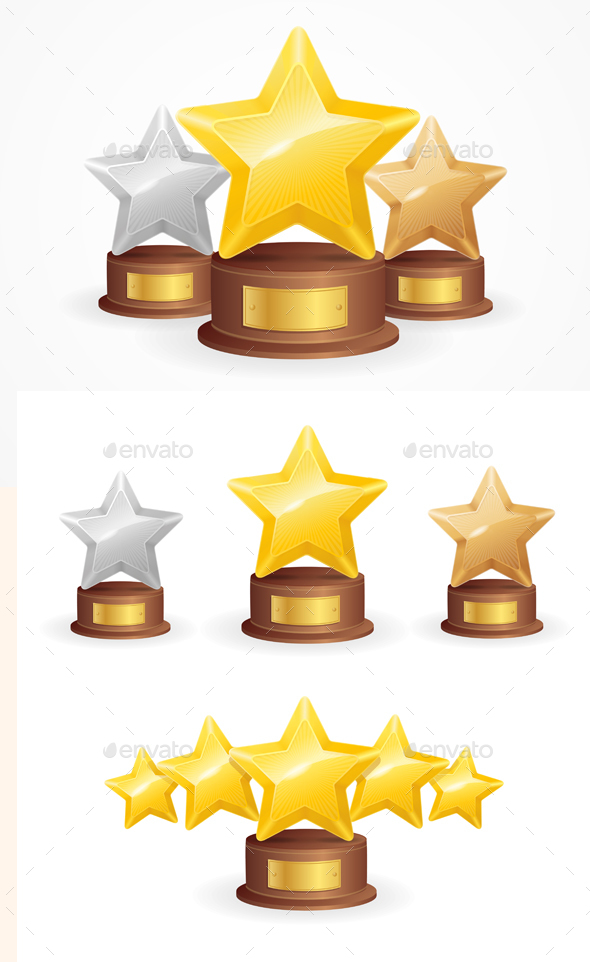 Star Award Set - Sports/Activity Conceptual