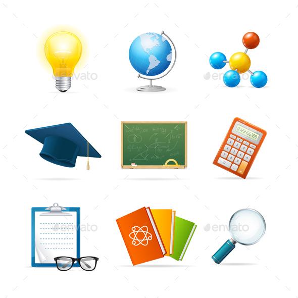 Colorful Science Icon Set - Miscellaneous Vectors