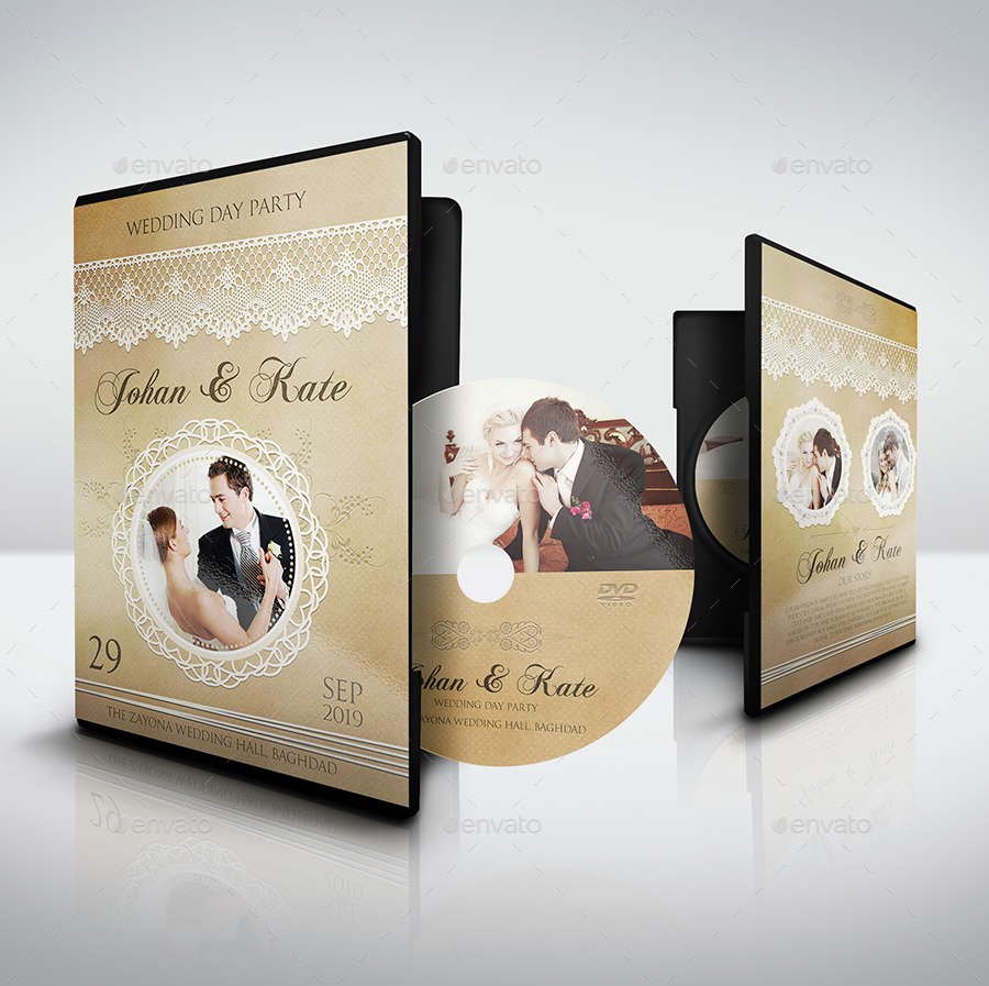 Wedding DVD Cover And Label Template Vol6