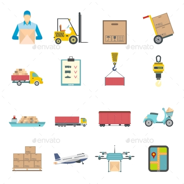 Logistics Flat Icons - Miscellaneous Icons