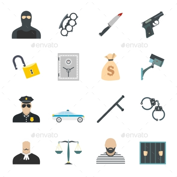 Crime Flat Icons - Miscellaneous Icons