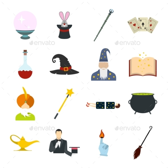 Focus Flat Icons Set - Miscellaneous Icons