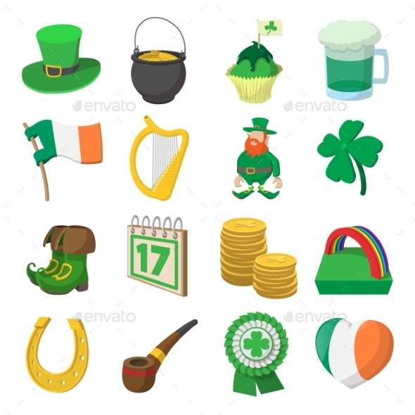 St Patrick Day Cartoon Icons - Miscellaneous Icons