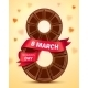 8 March Womens Day Greeting Card with Chocolate - GraphicRiver Item for Sale