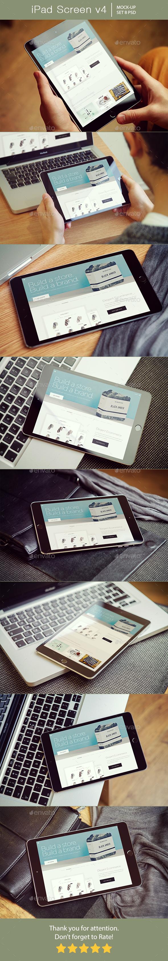 iPad Screen Mockup v4 - Mobile Displays