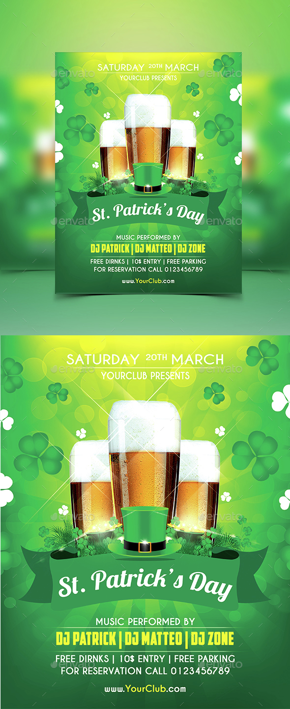 St.Patrick Party Flyer - Holidays Events