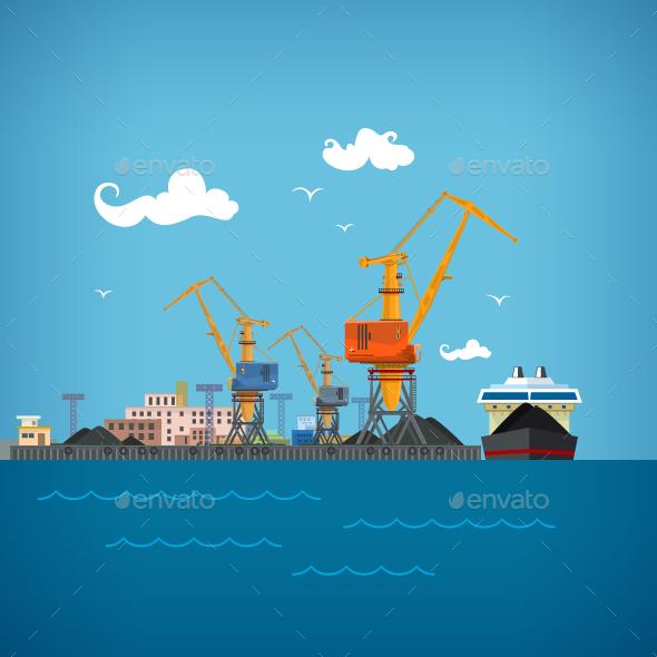 Cargo Sea Port  - Industries Business