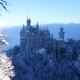 Neuschwanstein Castle At Sunrise In Winter Landscape - VideoHive Item for Sale