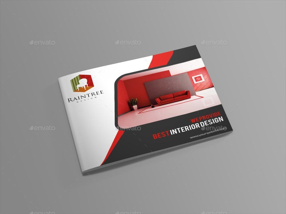 Interior Design Brochure Template By Themexone | Graphicriver