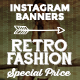 Instagram Banners - Retro Fashion - GraphicRiver Item for Sale