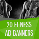 Fitness Banner Ads - GraphicRiver Item for Sale