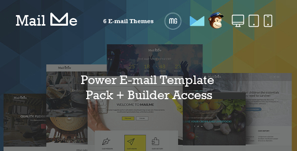 MailMe - Responsive Email Power Pack + MG Builder Access - Email Templates Marketing