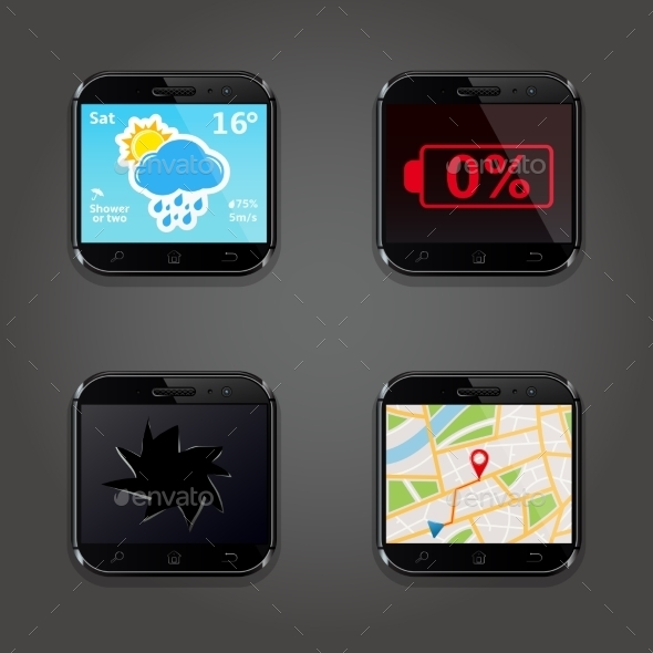 Set of App Icons - Web Technology