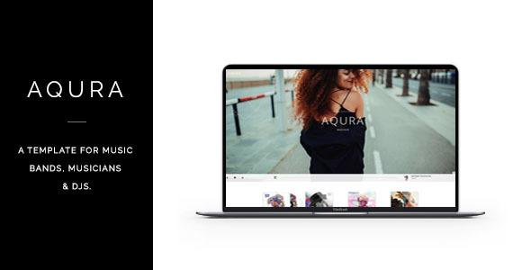 AQURA – Music Bands, Musicians & DJ's HTML Template
