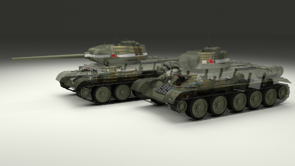 T-34 76/85 Tanks w Interior - 3DOcean Item for Sale