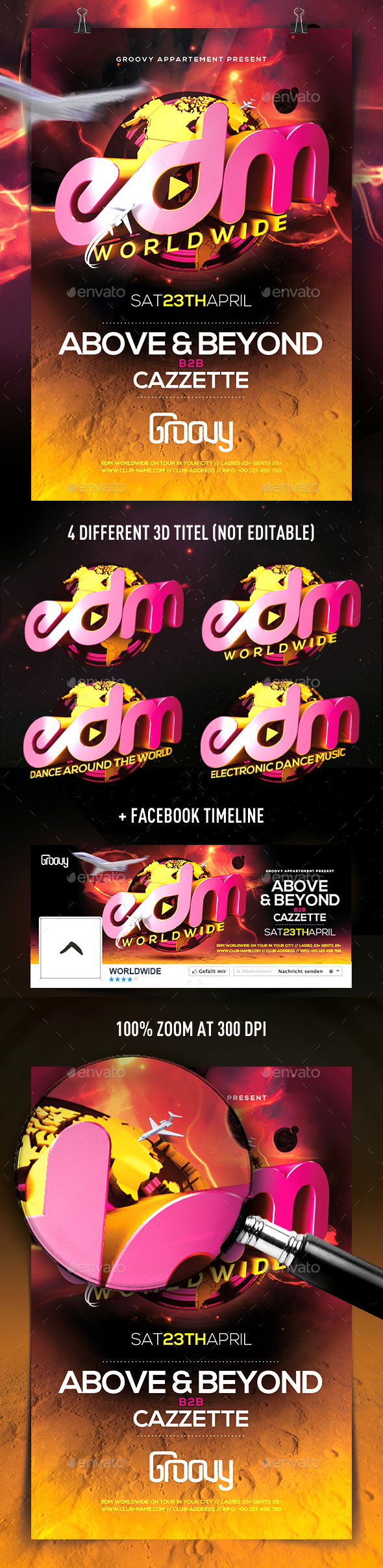 EDM Worldwide Flyer - Clubs & Parties Events