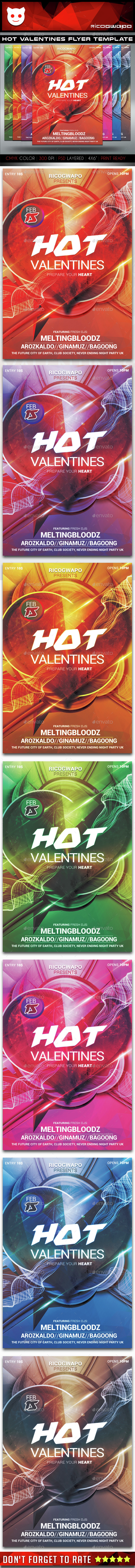 Hot Valentines Flyer Poster