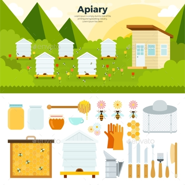 Apiary In The Garden - Food Objects