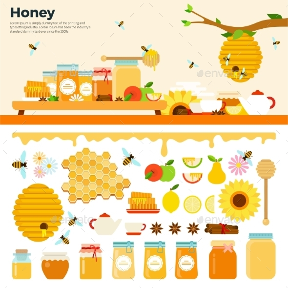 Honey Products On The Table - Food Objects