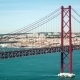 Traffic On The 25 De Abril Bridge In Lisbon Portugal - VideoHive Item for Sale