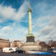 Traffic at Bastille, Morning, Paris - VideoHive Item for Sale