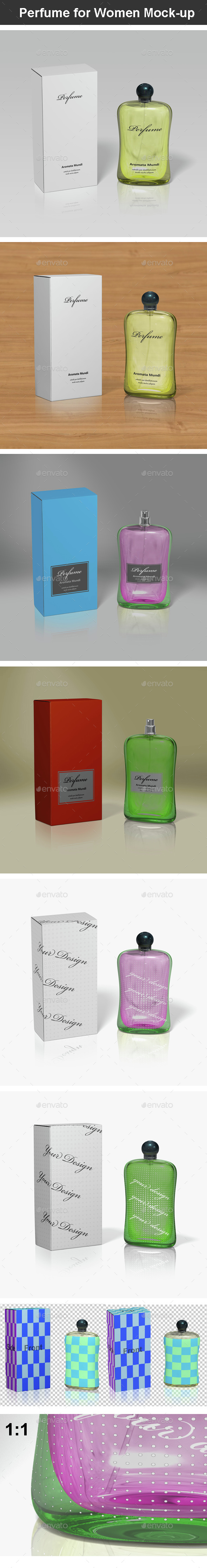 Perfume for Women Mock-up - Beauty Packaging