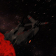 Spaceship Passes Fire Planet  - VideoHive Item for Sale