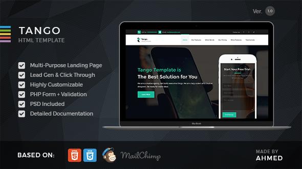 Tango - Responsive Multi-Purpose Landing Page