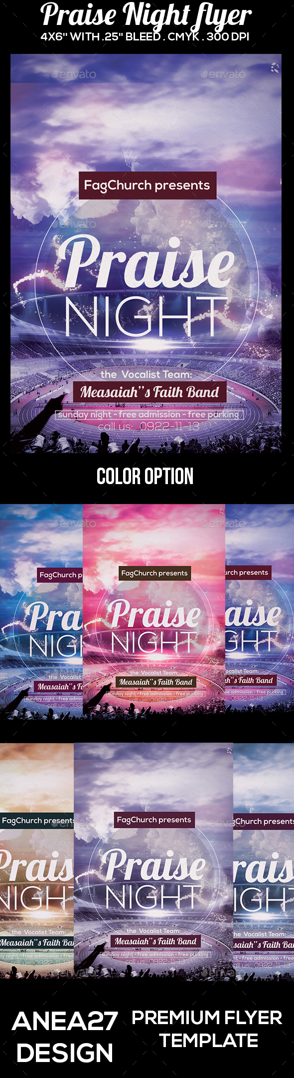 Praise Night Flyer - Clubs & Parties Events