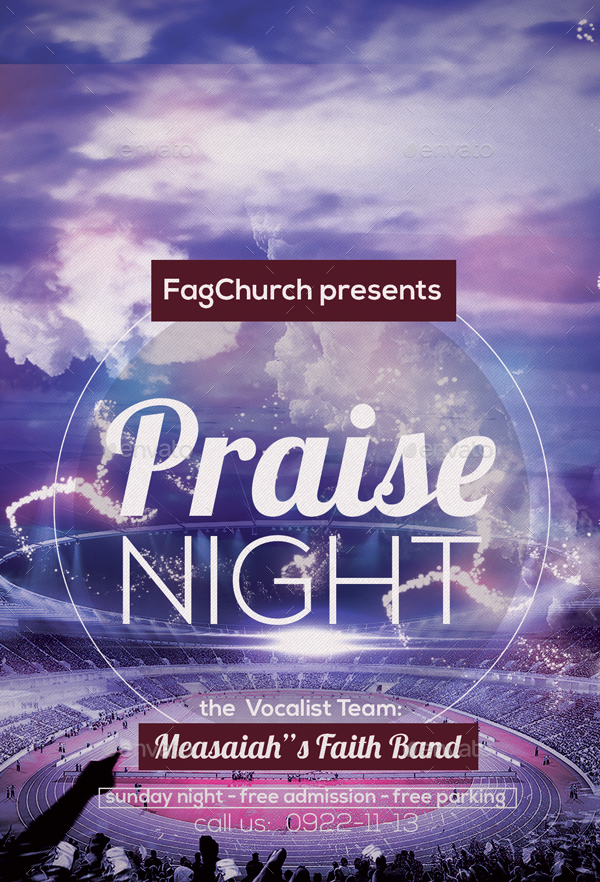praise night flyer by anea27