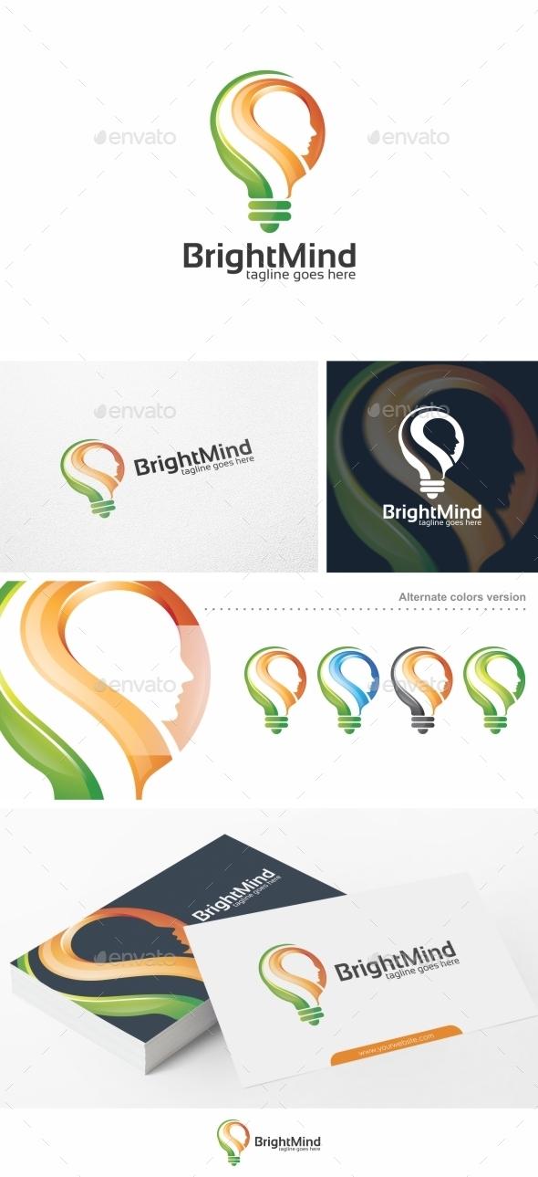 Bright Mind / Idea - Logo Template - Humans Logo Templates