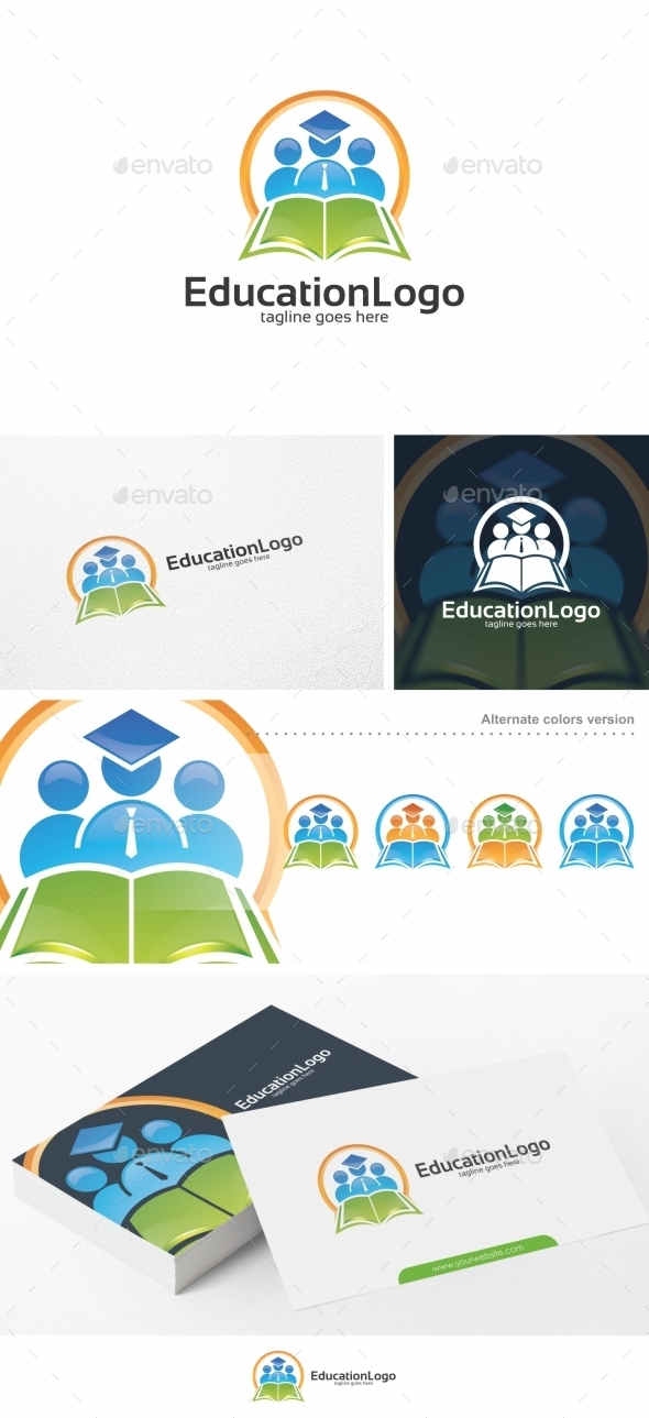 Education Logo - Logo Template - Humans Logo Templates