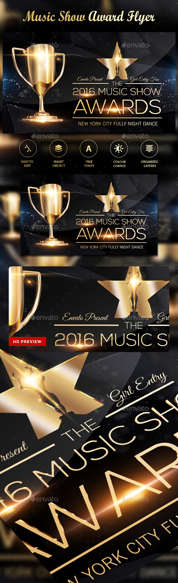 Music Award Flyer - Clubs & Parties Events