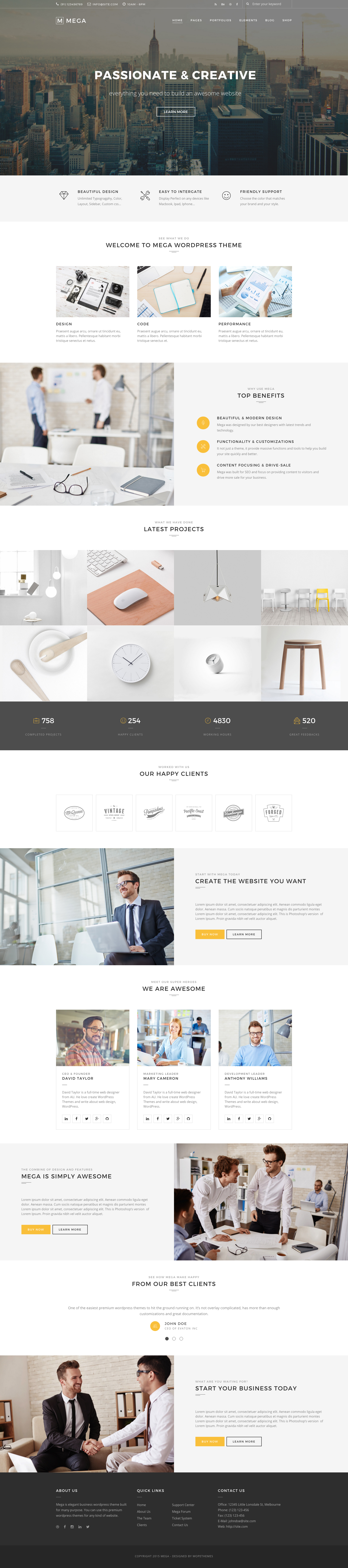 Mega creative multi purpose wordpress theme by wopethemes mega creative multi purpose wordpress theme toneelgroepblik Images