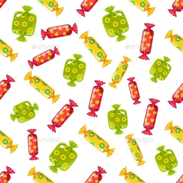 Candy Pattern. Vector Illustration - Patterns Decorative