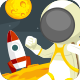 Astronaut Moonwalk - GraphicRiver Item for Sale
