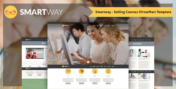 Smartway – Selling Courses VirtueMart Template - VirtueMart Joomla