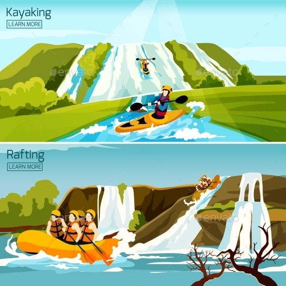 Rafting Canoeing Kayaking Compositions - Sports/Activity Conceptual