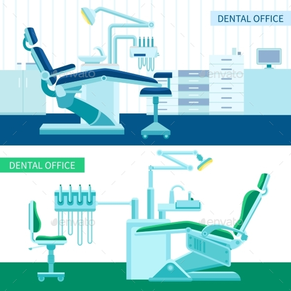 Dental Room Banner Set - Business Conceptual