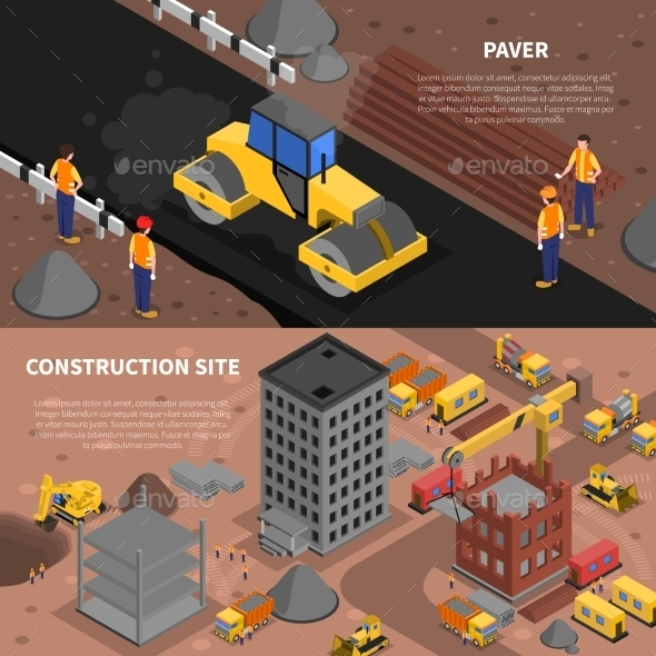 Construction Banners Set - Industries Business