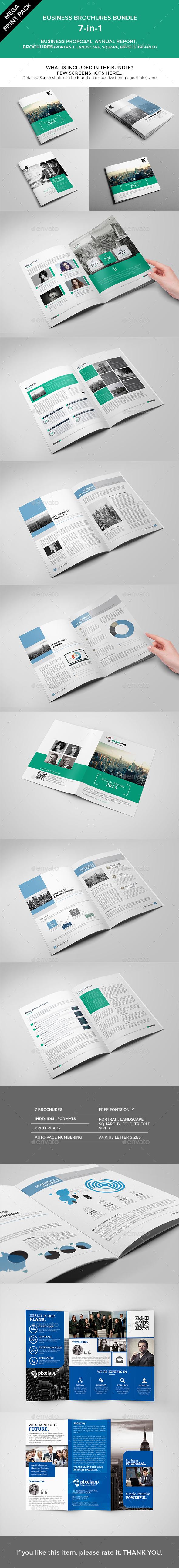 Mega Print Pack - 7-in-1 Brochures Bundle - Corporate Brochures