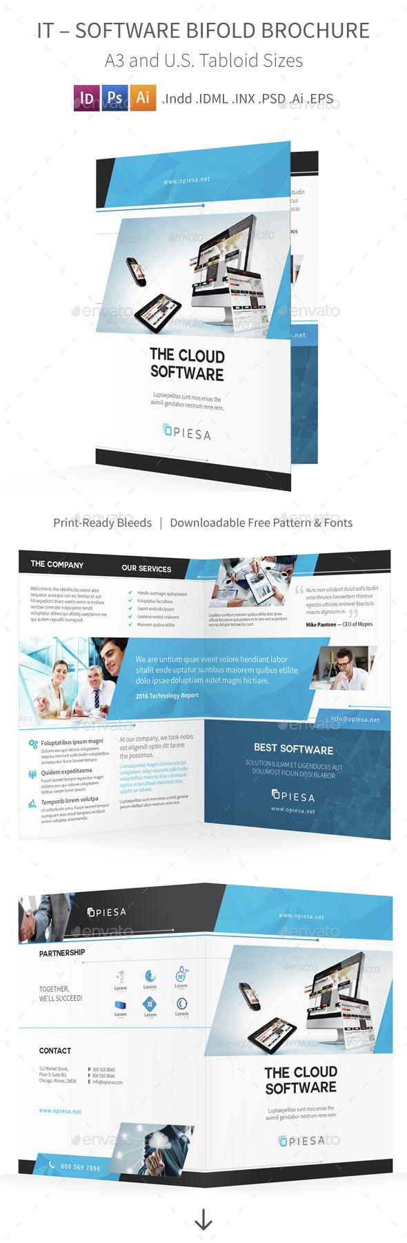 IT – Software Bifold / Halffold Brochure 5 - Corporate Brochures
