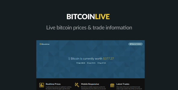 BitcoinLive - Realtime Bitcoin Prices & Info - CodeCanyon Item for Sale