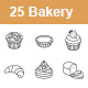 Bakery outlines vector icons - GraphicRiver Item for Sale