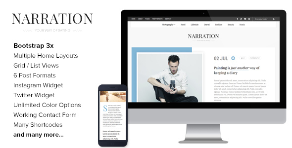 Narration – A Responsive WordPress Blog Theme